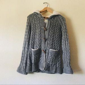 Zara knit sherpa cardigan sweater